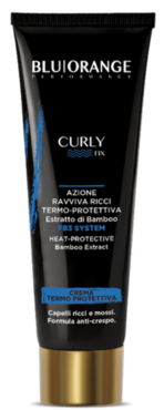 Curly reviving cream heat-protective action