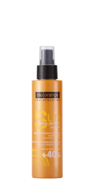 Biphasic sun protective spray